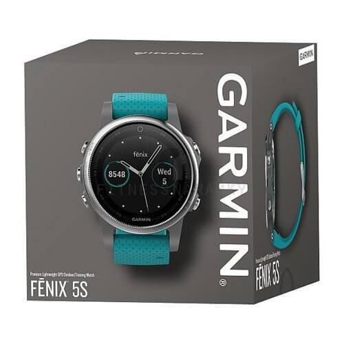Garmin Fenix 5s Silver Turquoise Band