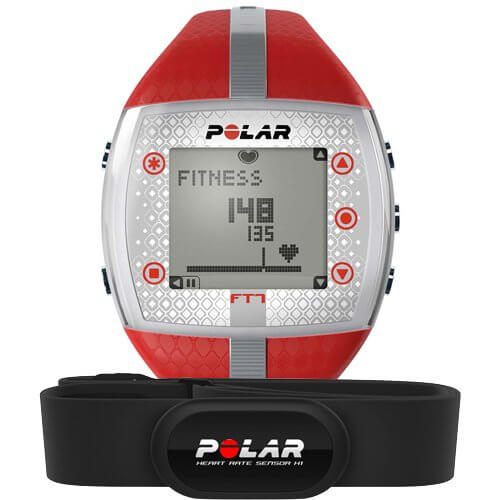 Кардио часы Polar FT7F Red/Silver
