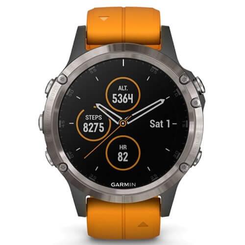 Garmin Fenix 5 Plus Sapphire Titanium Orange
