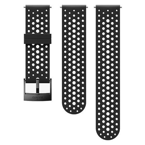 Ремешок сменный Suunto 24мм Silicone Athletic Black Strap