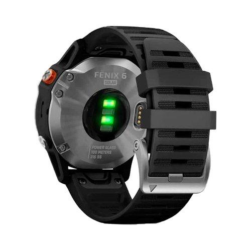 Gamin Fenix 6 Solar Silver Black